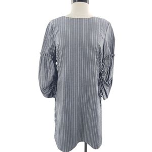 Charles Henry chambray dress w/ balloon sleeves